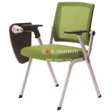 Folding Chair with Tablet Arm, Net Fabric Office Node Chair