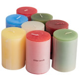 Wholesale 5X5 Decorative White Pillar Candles for Home Decorations