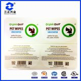 Custom Designed Barcode Qr Code for Pet Wipes Packaging Label Stickers