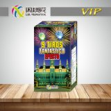 Gfcc50009-ISM4053-9 Tiros 1.3G Outdoor Big Explosive Pyrotechnic Chinese Cake Fireworks