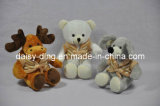 3 Asst Plush Christmas Mouse with Soft Material