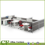 Economical Modern Melamine Modular Office Partition Workstation for 6 Person