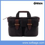 New Fashion Elegant Custom Gift Canvas Leather Computer Laptop Bag