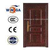 Reasonable Price Wood Color Winga Security Steel Door (W-S-36)