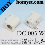 2 Pin DC DIP DC Jack/Power Connector with White Color (DC-005-W)
