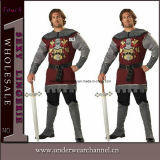 Hot Selling Adult Men′s Dark Medieval Knight Party Costume (8686)