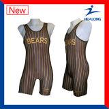 Custom Cheap Sublimation Sportswear Wrestling Suit for Team Club