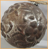 Hand Made Artifical Rust Color Christmas Glass Ball