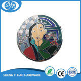 Custom Zinc Alloy 3'' Stained Glass Badge for Souvenir