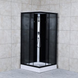 Black Simple and Convenient Square Shower Room