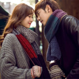 Unisex Classic Winter Warm Knitted Scarf Blended Men Women Scarf