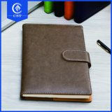 Wholesale Cheap Custom Made PU Leather Cover Diary Printed Notebook