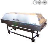 Ystsc-2D Hospital Mortuary Equipment Stainless Steel Funeral Stretcher Corpse Cart