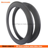 Wholsesale Carbon Fiber Rims 451 50 mm 21mm Road Clincher Rims High Tg Basalt Braking Track, BMX Race Rims and Wheels, 20′′
