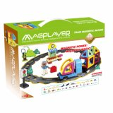 68 Pieces Plastic Magnetic Track Train Building Blocks Toys