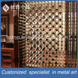 High-End Customized Stainless Steel Rose Gold Hairline Wine Rack for Cellar