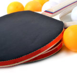 Table Tennis Bat - Flared - Blade Colour Options: Blue, Red & Black