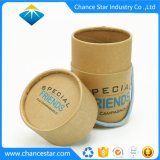 Custom Printed Kraft Paper Gift Package Tube with Handle