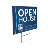 Custom Coroplast Metal Stake Yard Sign for Security Real Estate