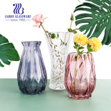 Crystal Home Decoration Glass Flower Vase Colored Glass Vases for Centerpieces Cheap Bulk GB1597dl-P