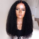 150% Density 13X4 Long Big Kinky Curly Wig Lace Front Human Hair Wigs for Women Black Color Remy Brazilian Hair Wigs Human Hair