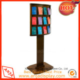Factory Price Quality Wooden Magazine Display Stand for Shop