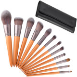 12 Pieces Makeup Brush Set Professional Wooden Handle Premium Synthetic Kabuki Foundation Blending Blush Concealer Eye Face Liquid Powder Cream Cosmetics Brush