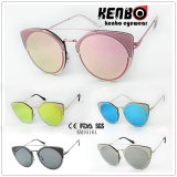 Round Frame with Eyecat Design Fashion Metal Sunglasses Km16161 Muti Colour Choice