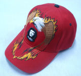 Red Baseball Cap with Logo - 1015