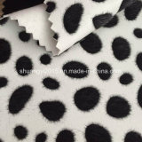 Imitation Horsehair Flocking PU Leather for Bags