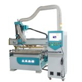 Automatic Double Mesa Double Spindle Carving and Drilling Wood Working Router Machine for Sofa Factory