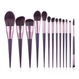 Highwoo 13PCS Professional Synthetic Vegan Brushes Makeup Brush Set High Quality Private Label Make up Brushes Purple