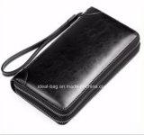 High Grade PU Leather Man Double Zipper Wallet Clutch Bag Purse, Card Holder Wallet Purse Men Business Clutch Handbag