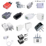 USB Travel Charger 1A 2A 2.1A 2.4A 3A 4A 4.8A Dp QC 3.0 Ce CCC TUV BS ETL UL PSE Kc Certificates