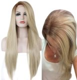 Manufacture Directory Cheap Wholesale Price Long Body Wave Ombre Wigs Dragon Queen Makeup Best Blonde Wig