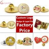 Factory Custom Metal Gold Enamel Lapel Pin Badge
