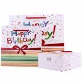 Cheap Happy Birthday Paper Bag Wholesale Custom Printing Logo with Handle