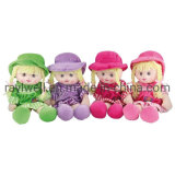 Wholesale Cheap Factory Custom Made Cute Plush Fabric Doll Toys with Hat