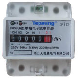 Single Phase Two Wire DIN Rail Electric Energy Meter with Attractive Appearance