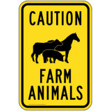 Funny Metal Farm Signs Wholesale Price Aluminum Reflective Traffic Road Warning Sign Boards
