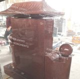 Chinese Style High Quality Red Granite Monument Tombstone