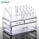 Large Transparent Acrylic Desktop Storage Box Dressing Table Lipstick Skin Care Product Storage Organizer Drawer Makeup Box