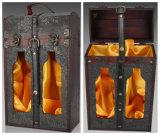 Classic Antique Portable Wooden Wine Box