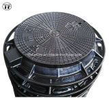 Heavy Duty Ductile Cast Iron Machined Manhole Covers with Rubber Gasket