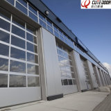 Fast Automatic Security Aluminum Sectional Glass Perspective Shutter Door