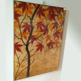 Home Decoration Knife Autumn Maple Tree Oil Painting on Canvas (LH-241000)