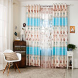 Countryside Style Print Curtain Fashion Curtain (KS-150)