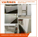 PVC Membraned Shaker Door Panels American Style Kitchen Cabinet
