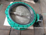 API/ANSI/DIN/JIS Cast Iron/Ductile Iron Double Flange Butterfly Valve