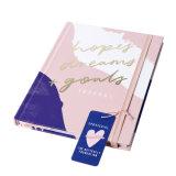 2019 New Design Hard Cover Logo Customized Marbling Planner Notebook
